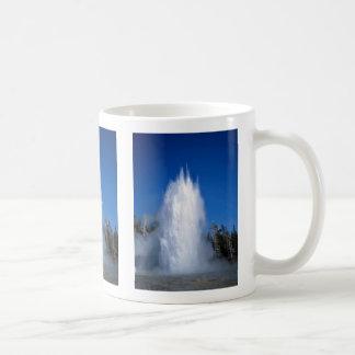 Grand Geyser, Yellowstone National Park, U.S.A. Basic White Mug