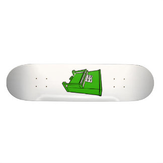 grand green upright piano with music.png 21.6 cm skateboard deck