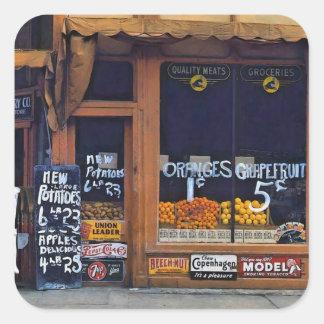 Grand Grocery Company. Lincoln, Nebraska, 1942. Square Sticker