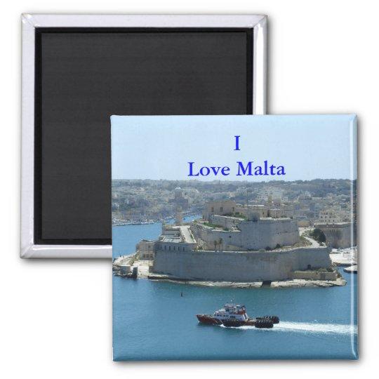 Grand Harbour Valletta Love Malta Magnet