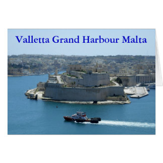 Grand Harbour Valletta Malta Greetings Card