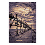 Grand Haven lighthouse and pier, Grand Haven Poster