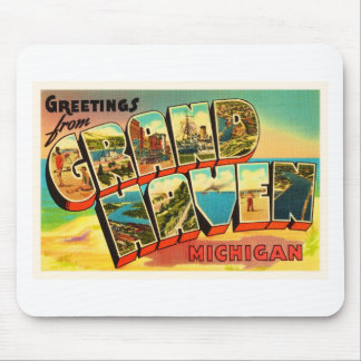 Grand Haven Michigan MI Vintage Travel Souvenir Mouse Mat