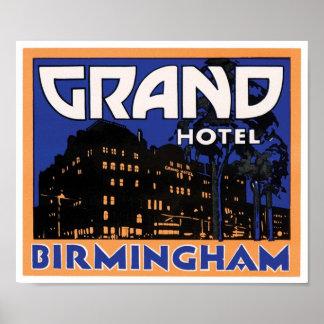 Grand Hotel Birmingham Poster