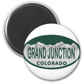 Grand Junction license oval 6 Cm Round Magnet