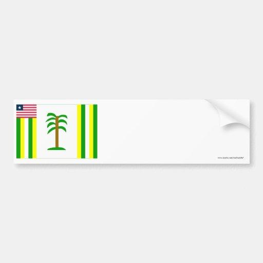 Grand Kru County Flag Bumper Sticker
