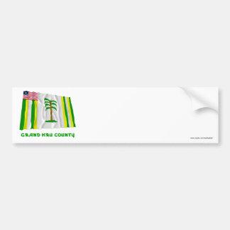 Grand Kru County Waving Flag with Name Bumper Sticker