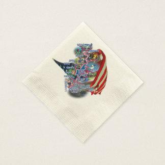 Grand Lake OK and flag napkins Disposable Serviettes