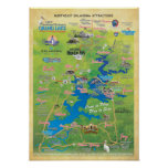 Grand Lake OK attractions map 15d Poster