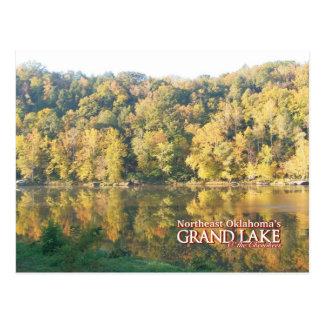 Grand Lake Oklahoma post card fall color
