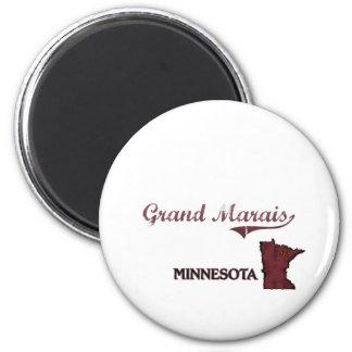 Grand Marais Minnesota City Classic 6 Cm Round Magnet