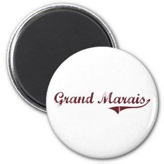 Grand Marais Minnesota Classic Design 6 Cm Round Magnet