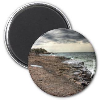 Grand Marais Shoreline 6 Cm Round Magnet
