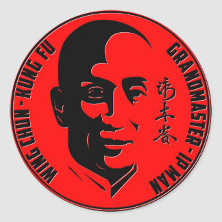 "Grand Master - Ip Man (""Wing Chun - Kung Fu"") Classic Round Sticker"