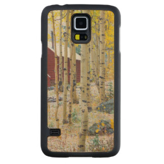 Grand Mesa Solitary cabin in a forest Carved Maple Galaxy S5 Case