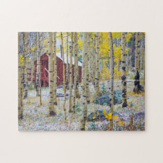 Grand Mesa Solitary cabin in a forest Jigsaw Puzzle