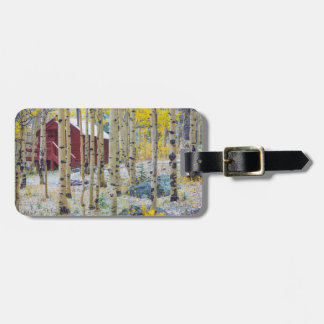 Grand Mesa Solitary cabin in a forest Luggage Tag