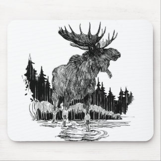 Grand Old Moose Mouse Mat