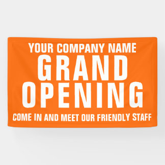 Grand opening business signage banner