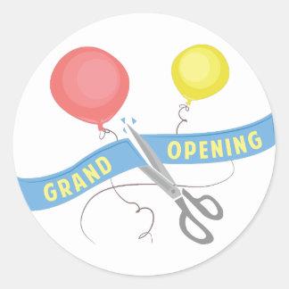 Grand Opening Classic Round Sticker