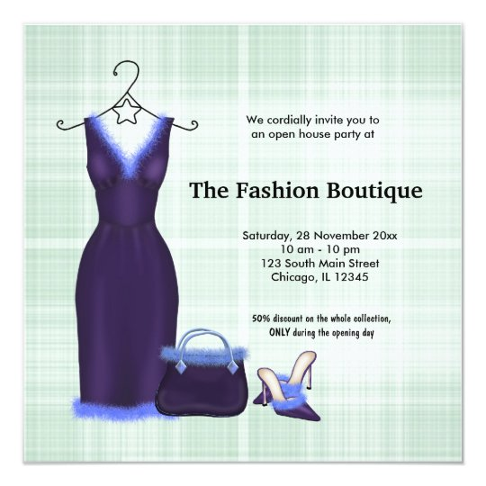 Grand opening fashion business card zazzle grand opening fashion business card stopboris Images