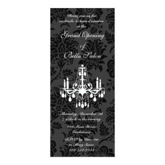 Grand Opening Victorian Damask (black) Card