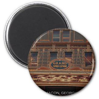GRAND OPERA HOUSE - MACON, GEORGIA 6 CM ROUND MAGNET