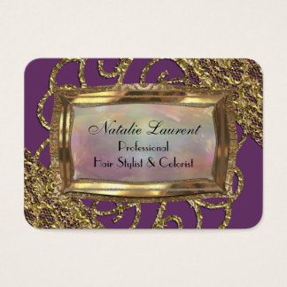 Grand Orchid Round Edge Elegance Business Card