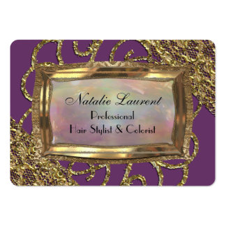 Grand Orchid Round Edge Elegance Pack Of Chubby Business Cards