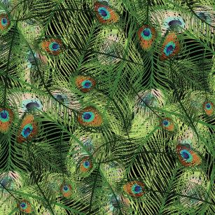grand peacock plumage pattern brushed polyester tree skirt - Peacock Christmas Tree Skirt