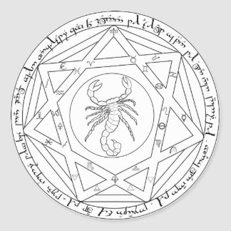 Grand Pentacle Classic Round Sticker