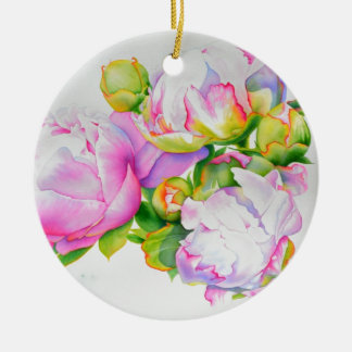 Grand Peony Christmas Ornament