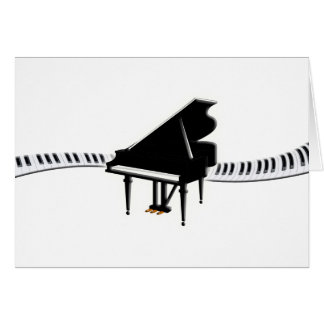 Grand piano and Keyboard Card