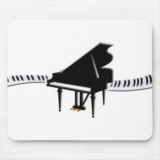 Grand piano and Keyboard Mouse Mat