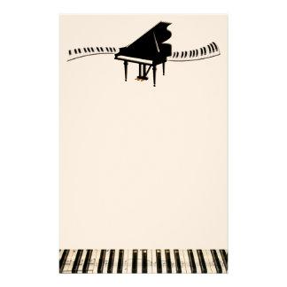 Grand Piano and Keyboard Custom Stationery