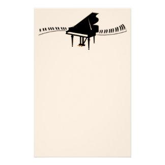 Grand Piano and Keyboard Customized Stationery