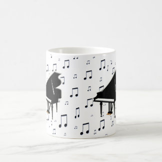 Grand Piano and Music Notes Coffee Mug