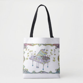 Grand Piano Art Medium Tote Bag