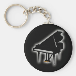 Grand Piano Basic Round Button Key Ring