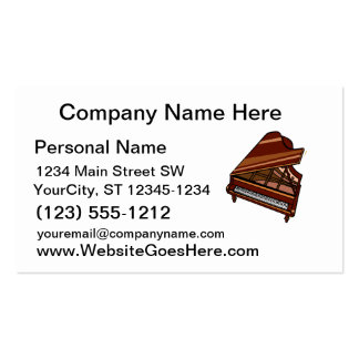 Grand Piano Brown Bird s Eye View Business Card Templates