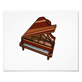 Grand Piano Brown Bird's Eye View Photograph
