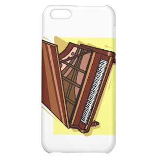 Grand Piano Brown Bird's Eye View Yellow Back iPhone 5C Cases