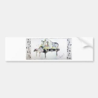 Grand piano bumper sticker