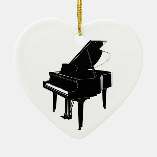 Grand Piano Christmas Ornaments