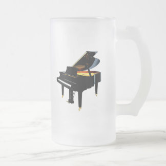 Grand Piano Frosted Glass Mug