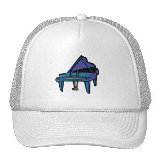 Grand Piano Graphic, Blue Image Cap