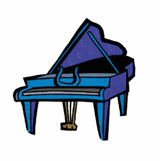 Grand Piano Graphic Blue Image Acrylic Cut Out