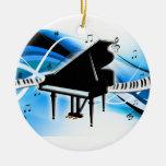 Grand Piano Keyboard Christmas Ornament