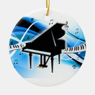Grand Piano Keyboard Christmas Ornament