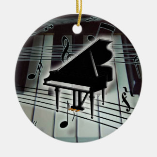 Grand Piano Keyboard Christmas Xmas Ornament